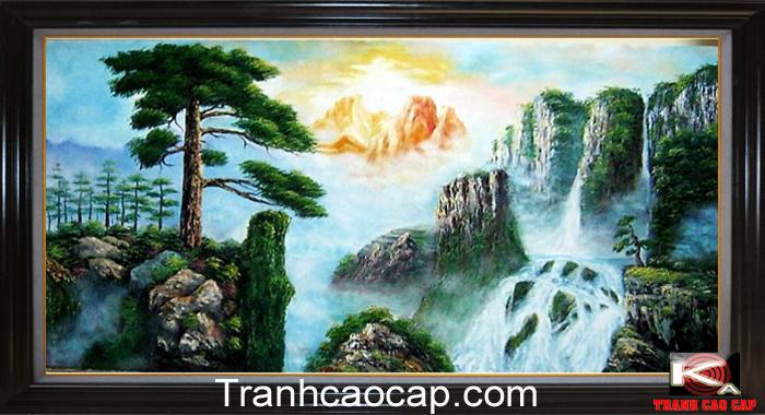 Tranh sơn dầu phong thủy